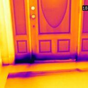 Flir E53 Draught in around door